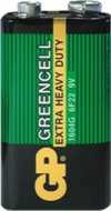 GP baterie Greencell 9V